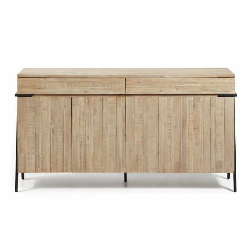 Detroit Solid Acacia Timber and Metal Sideboard