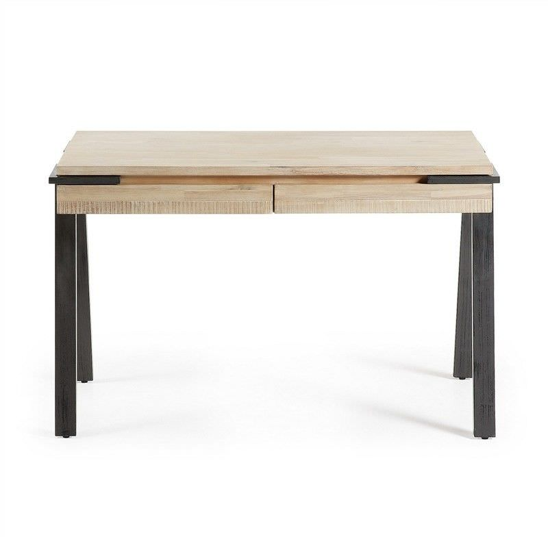 Detroit Solid Acacia Timber and Metal Desk