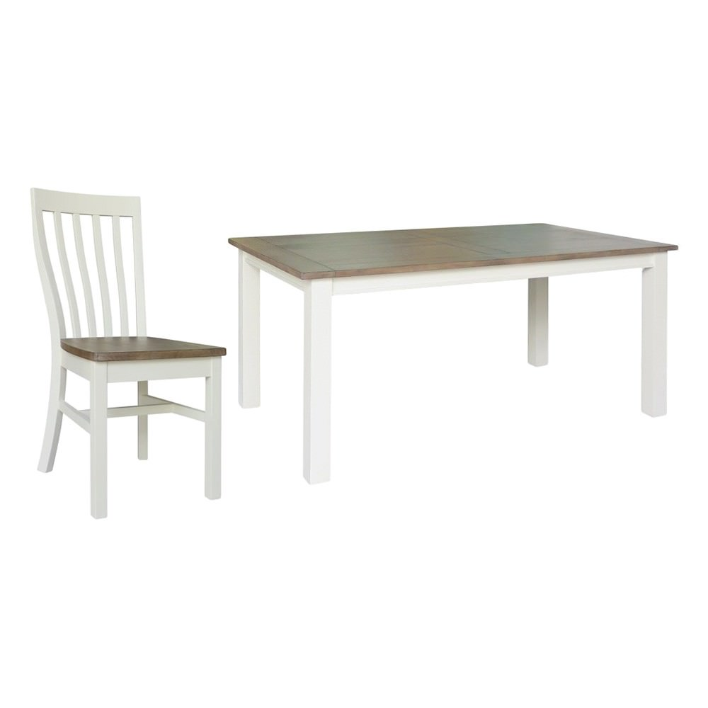Bosston 9 Piece Recycled Pine Timber Dining Table Set, 210cm