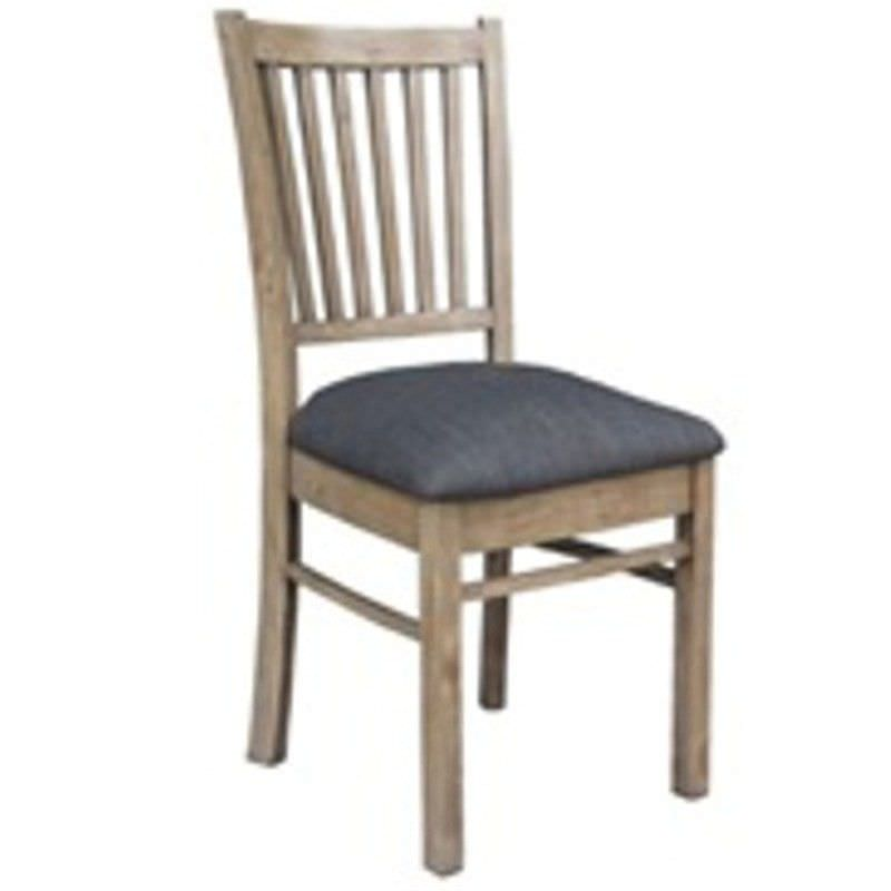 Berrima Recycled Pine Timber Dining Chair with Fabric Seat