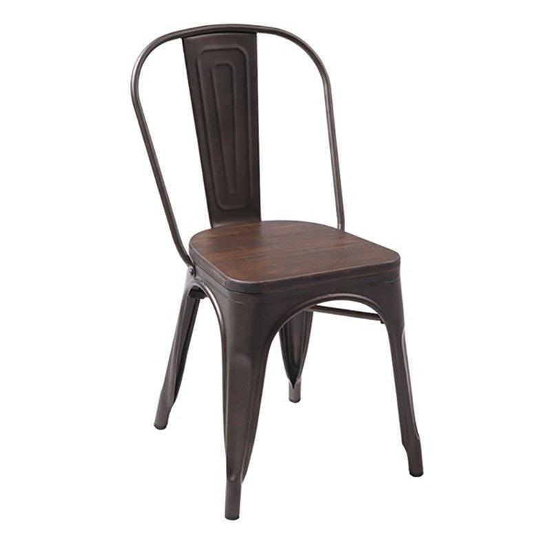 Cayo Bamboo & Metal Dining Chair