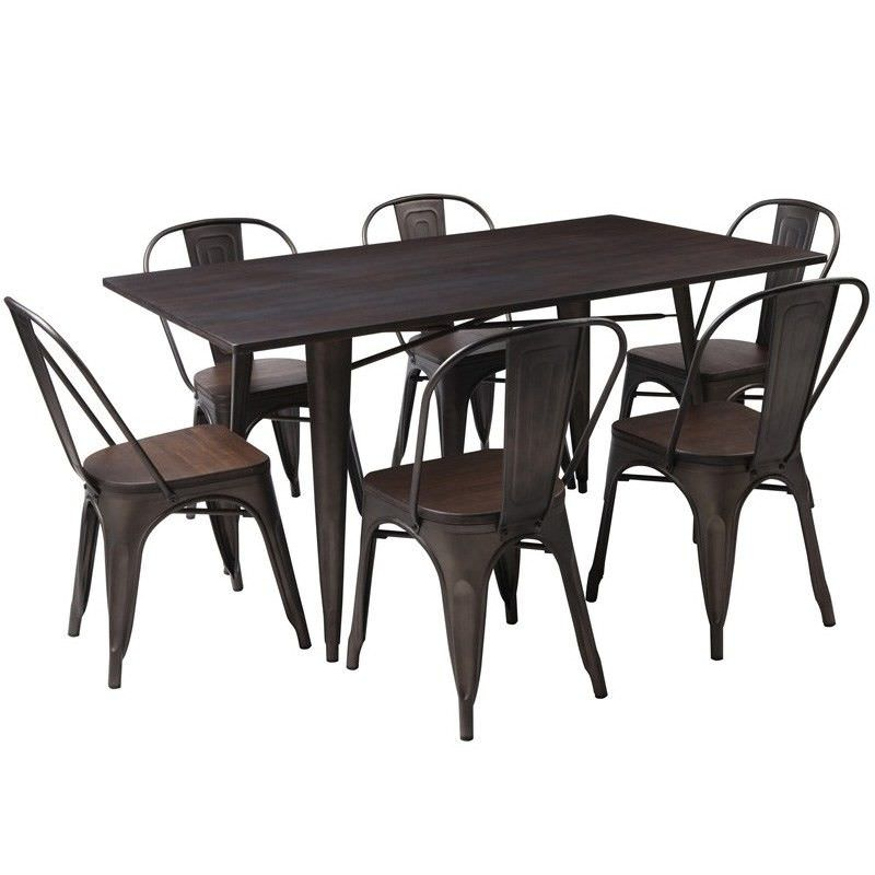 Cayo Solid Acacia Timber & Metal Dining Table (Table Only), 150cm