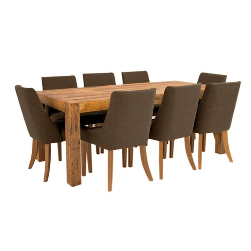 Backwood Recycled Pine Timber 9 Piece Dining Set