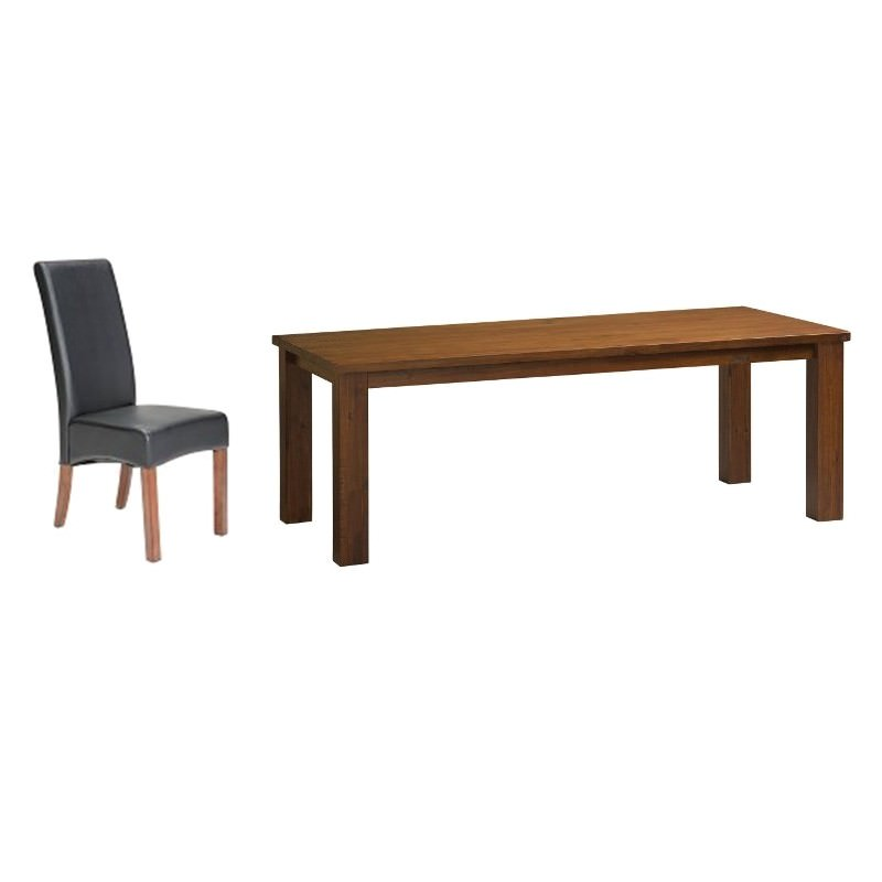Patrice II & Kingston 9 Piece Acacia Timber Dining Table Set, 210cm