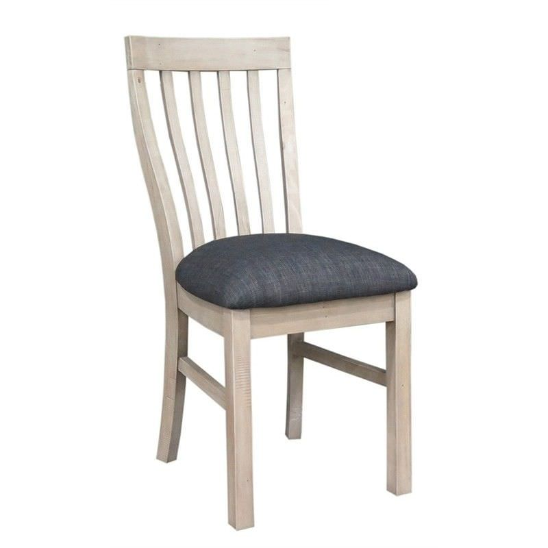Sancho Recycled Pine Timber Dining Chair with Fabric Seat