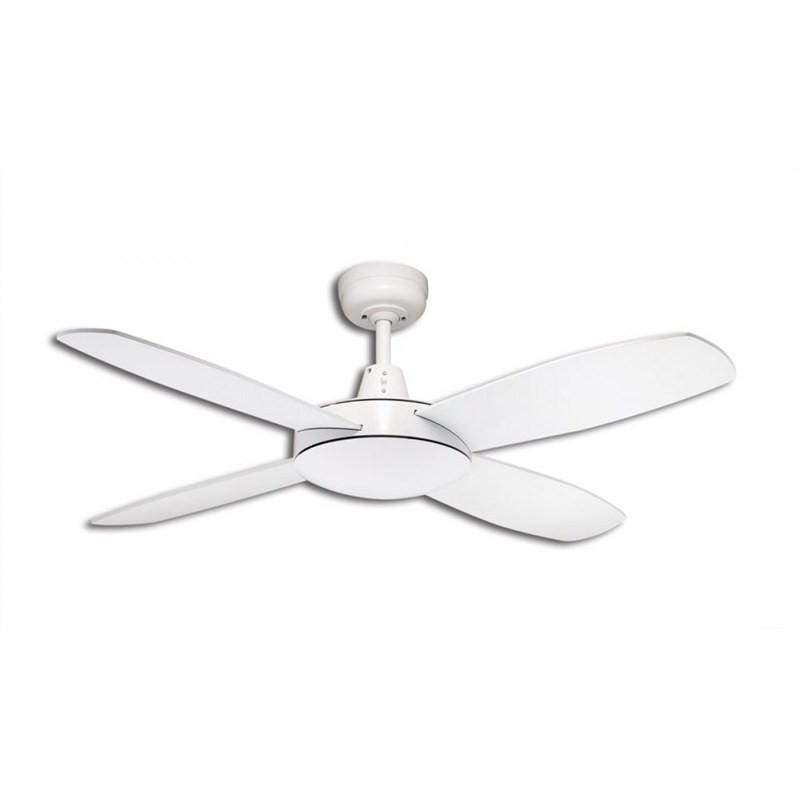 Martec Lifestyle Mini 4 Plywood Blade Fan (DLS104W) in White - 107cm