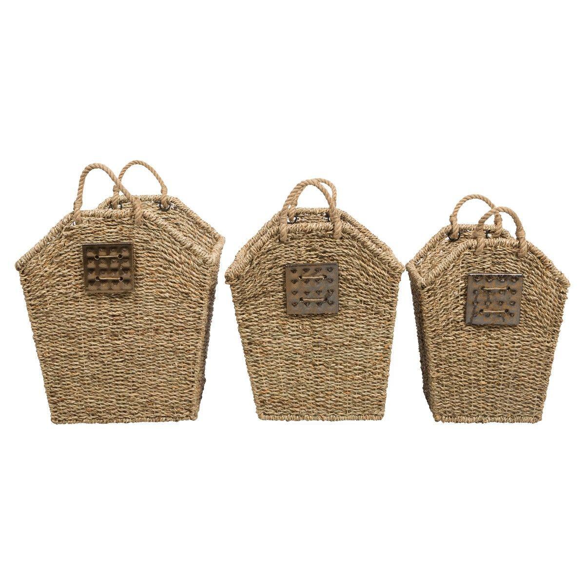 Lawson 3 Piece Seagrass Basket Set