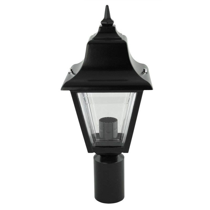 Italian Made Paris Aluminium IP43 Exterior Post Lantern - Black