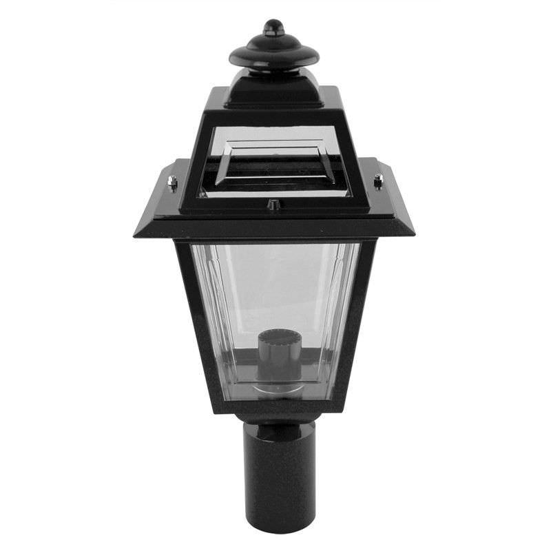 Italian Made Avignon Aluminium IP43 Exterior Post Lantern - Black