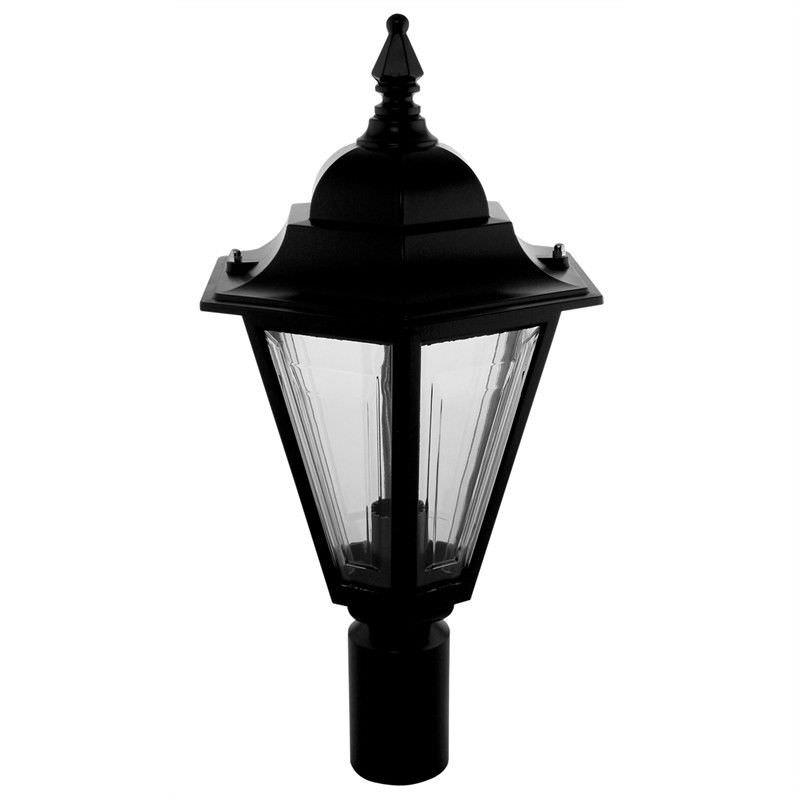 Italian Made Turin Aluminium IP43 Exterior Post Top Lantern - Small