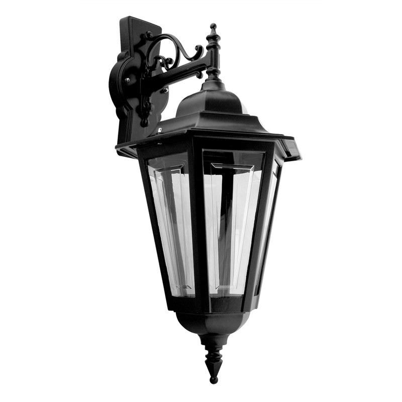 Italian Made Turin Large Aluminium IP43 Exterior Hanging Wall Light - Black