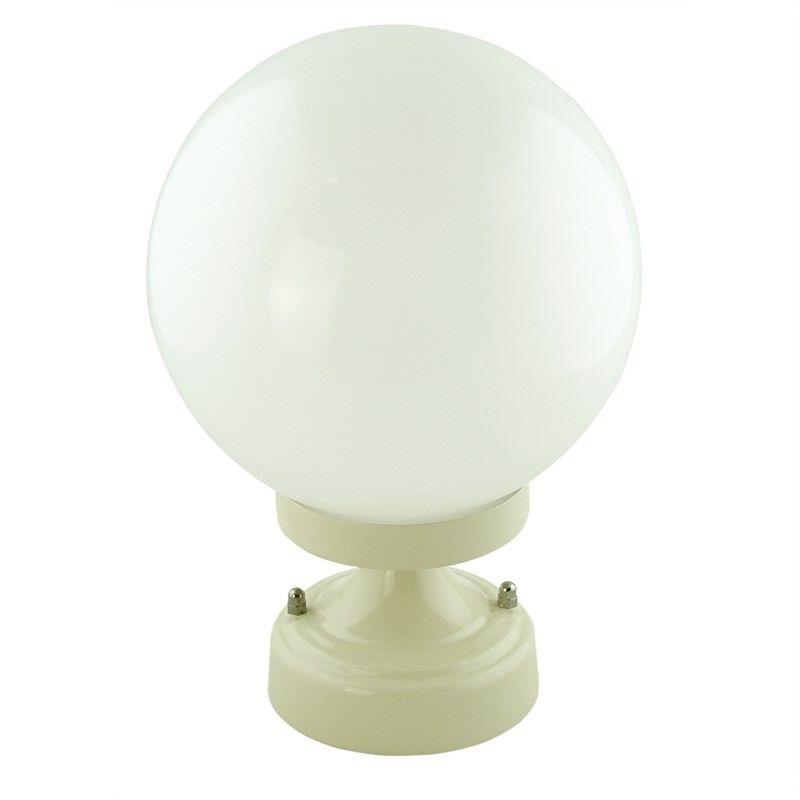 Italian Made Siena Small Aluminium IP43 Exterior Pillar Light - White