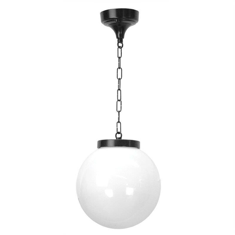 Italian Made Siena Medium Aluminium IP43 Exterior Pendant Light - Black