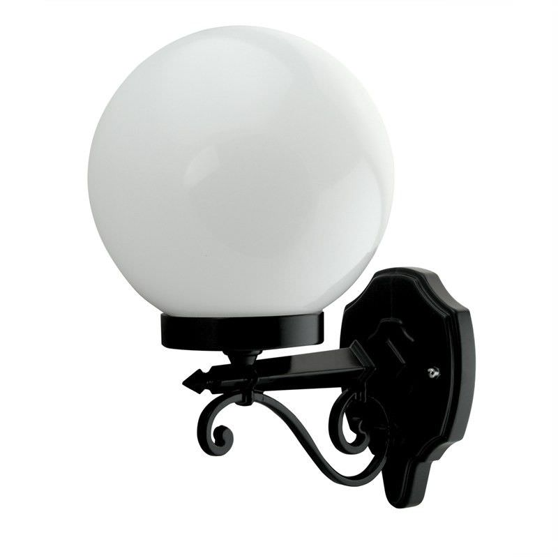 Italian Made Siena Small Aluminium IP43 Exterior Wall Light - Black