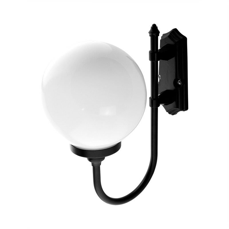 Italian Made Lisbon Large Aluminium IP43 Exterior Wall Light - Black