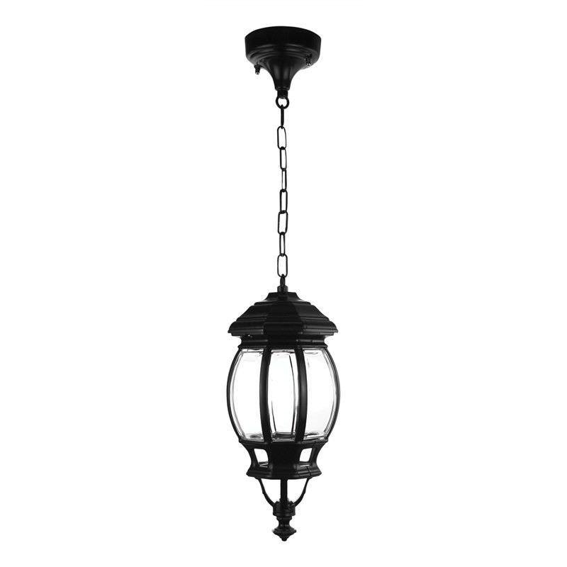 Italian Made Vienna Aluminium IP23 Exterior Pendant Light - Black