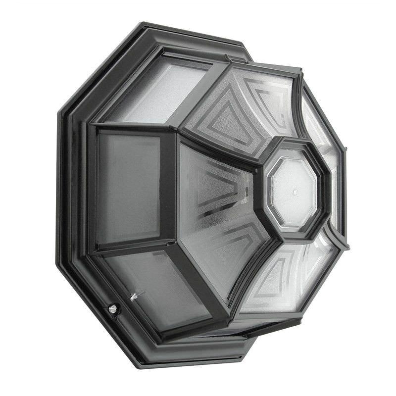 Italian Made Vienna Aluminium IP23 Exterior Oyster Wall Light - Black