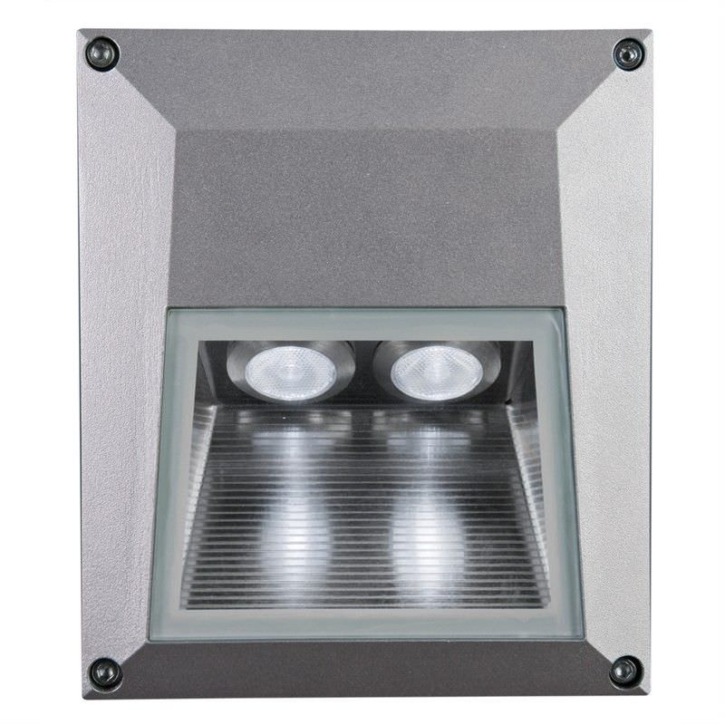 Evergreen IXIS Square IP54 Cool White LED Mounted Steplight