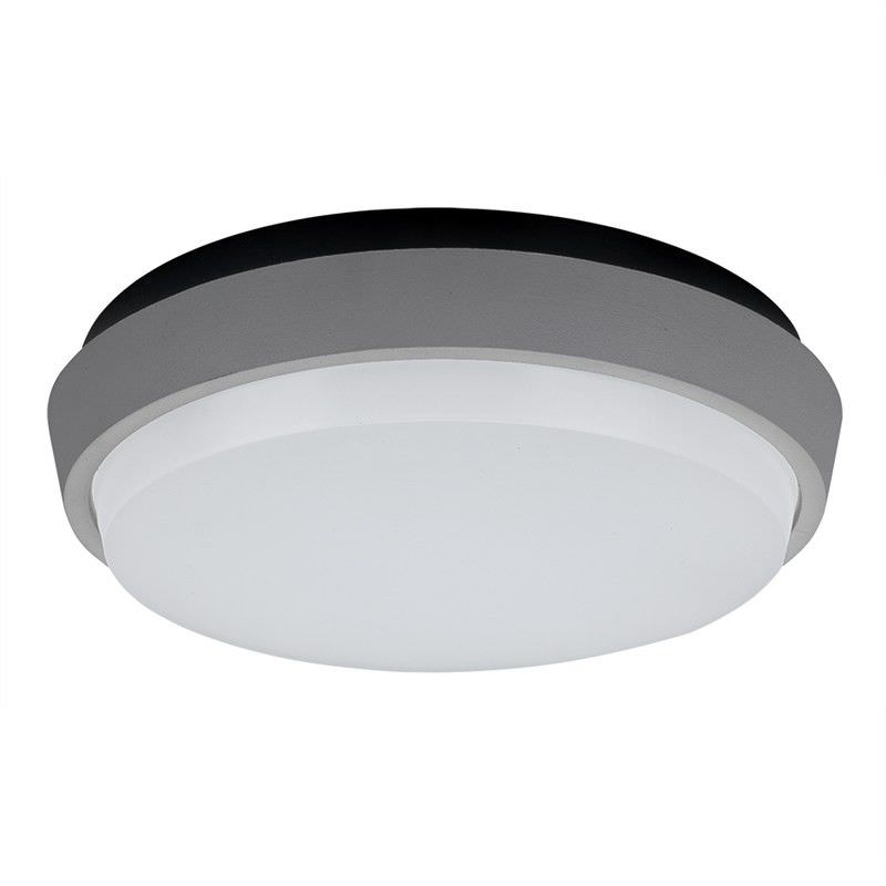 DISC-300 IP54 Exterior Round Cool White LED Celling Light - Silver