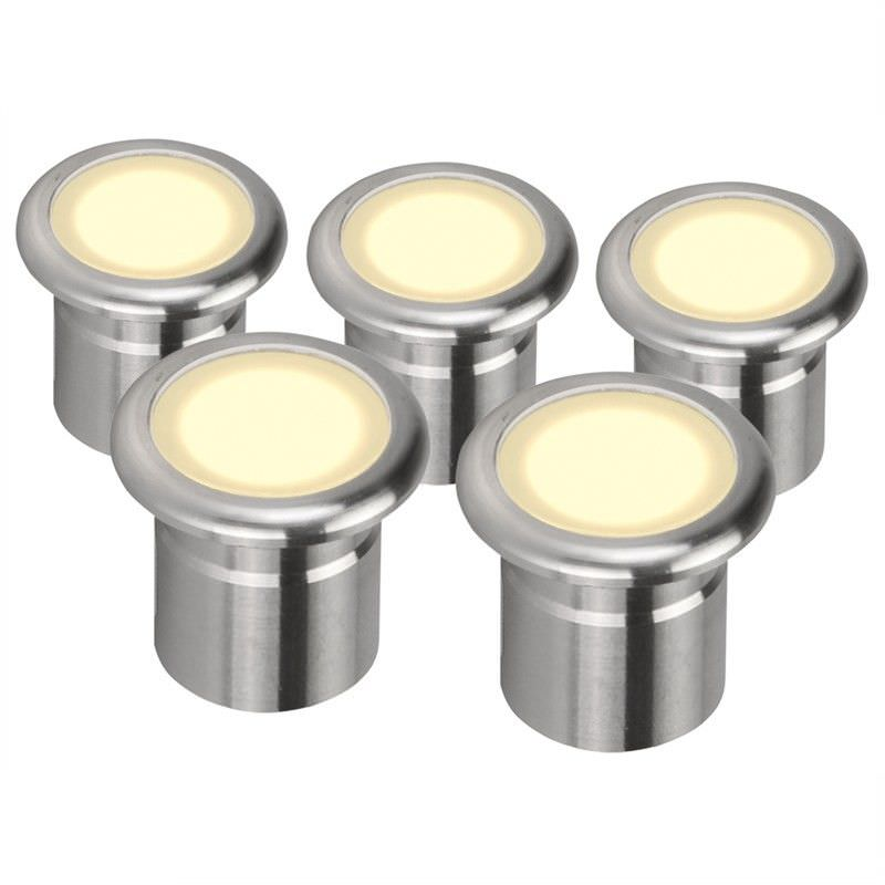 Evergreen Vivid Pack of 5 Warm White LED Deck Lights with RF Dimmer