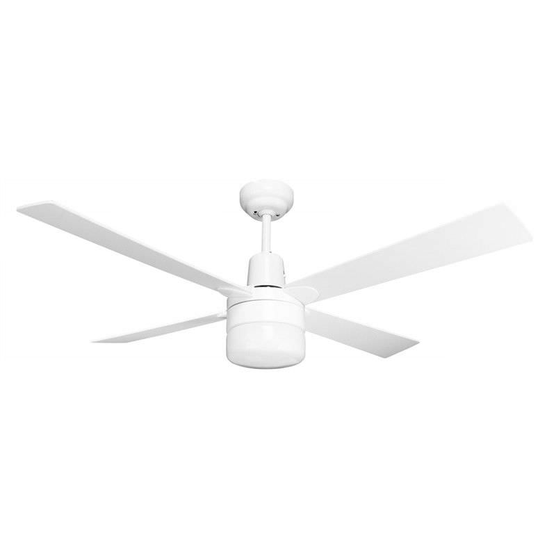 Windy Plywood Blade Aluminium Ceiling Fan with Light  - White