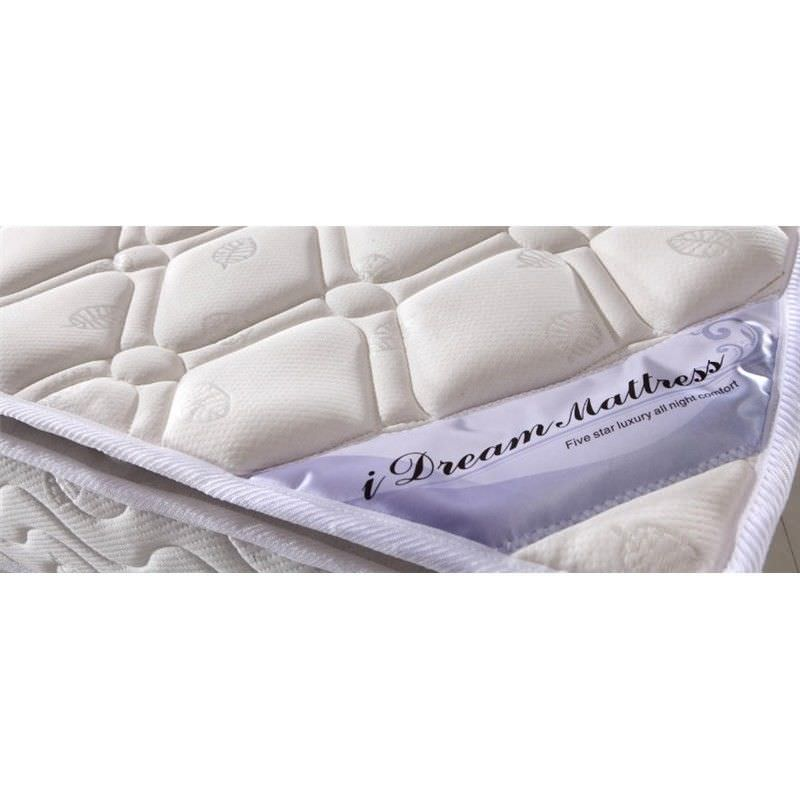 Idream Dust/Mite Resistant Medium Firm Mattress with Latex Pillow Top, Double