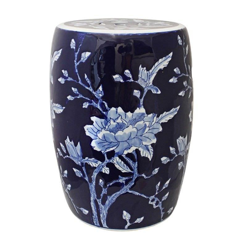 Magnolia Ceramic Decorative Stool