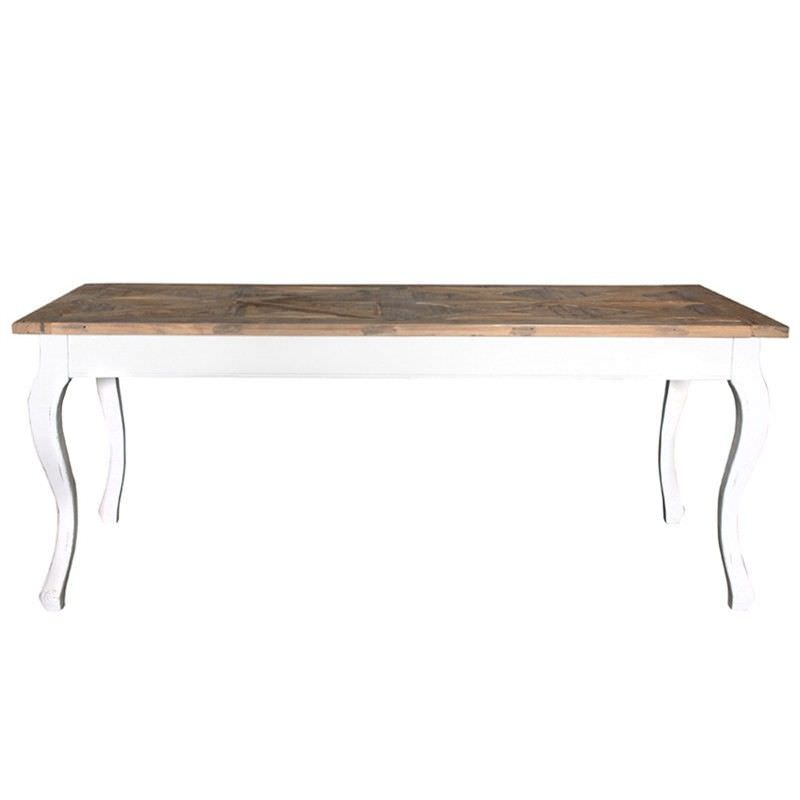 Marseillies Reclaimed Elm and Solid Poplar Timber 200cm Dining Table