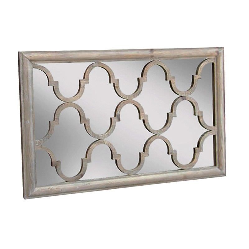 Trellis Reclaimed Pine Timber 125cm Wall Mirror
