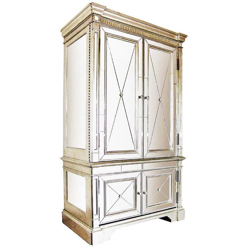 Navala Antique Mirrored Armoire / TV Cabinet