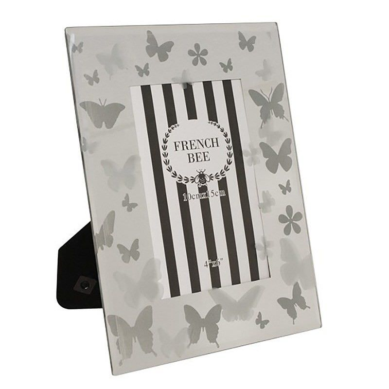 Butterfly Mirrored 4x6 Inch Photo Frame
