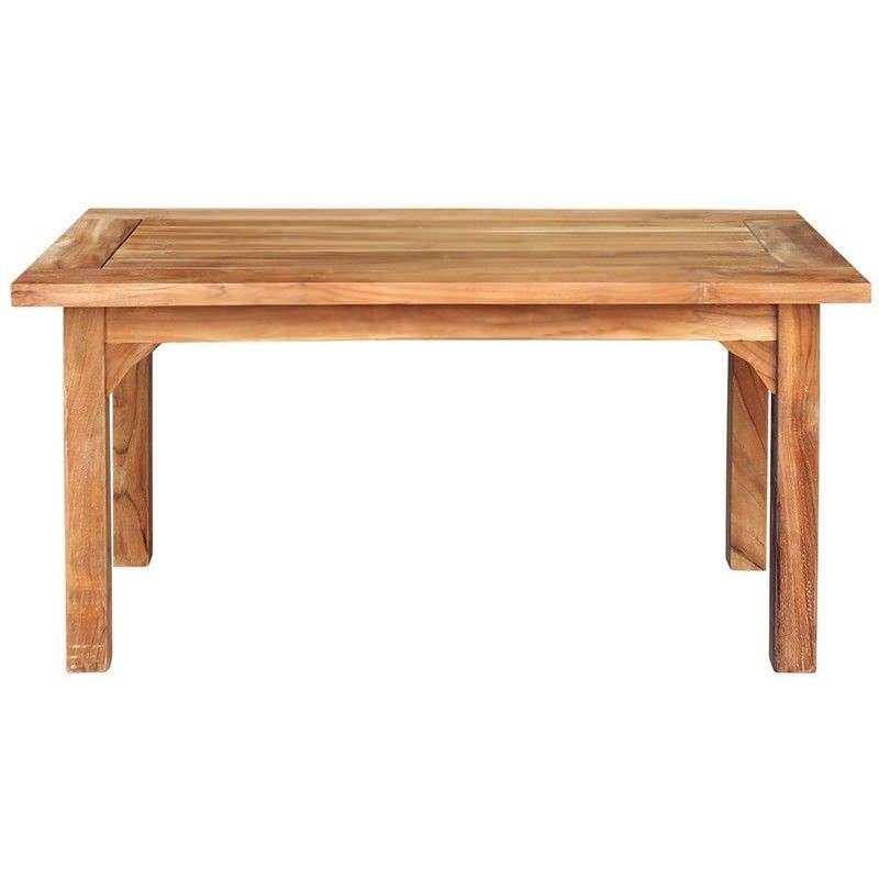Lelia Solid Teak Timber Outdoor Coffee Table,  100cm