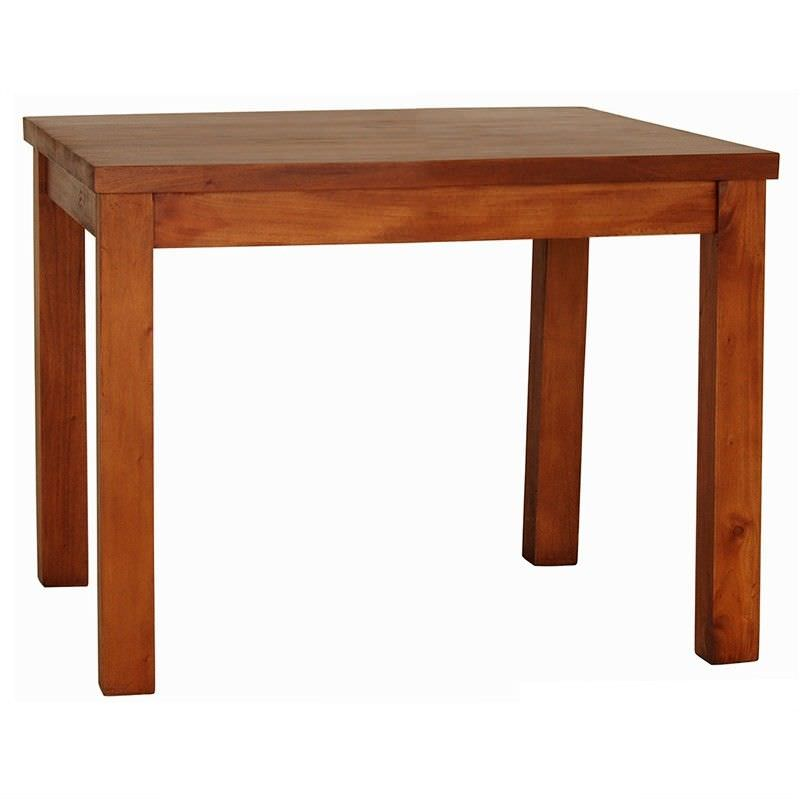 RPN Mahogany Timber Square Dining Table, 100cm, Light Pecan