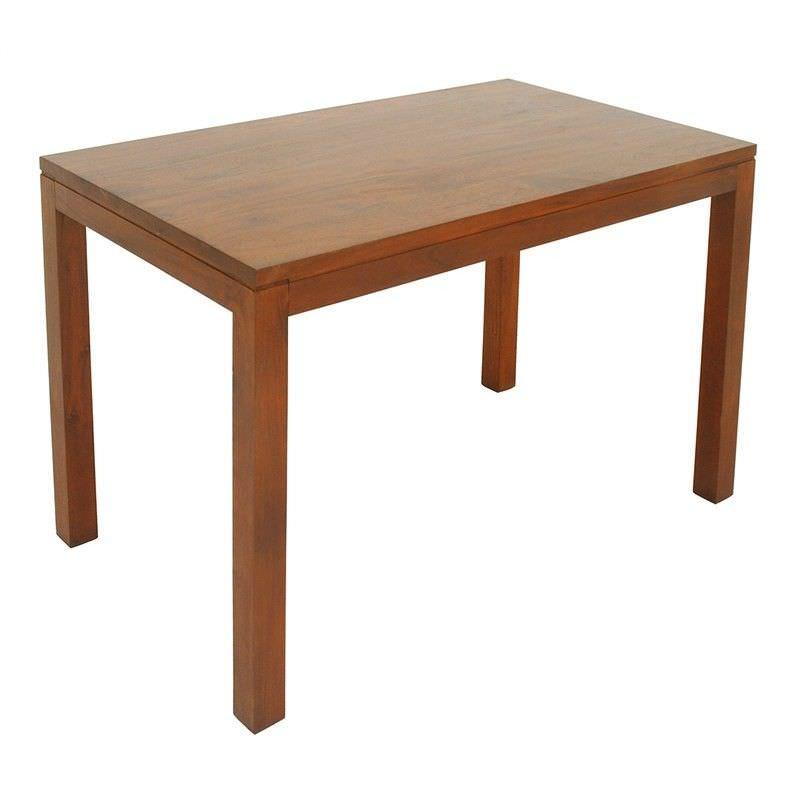 Amsterdam Mahogany Timber Dining Table, 120cm, Light Pecan
