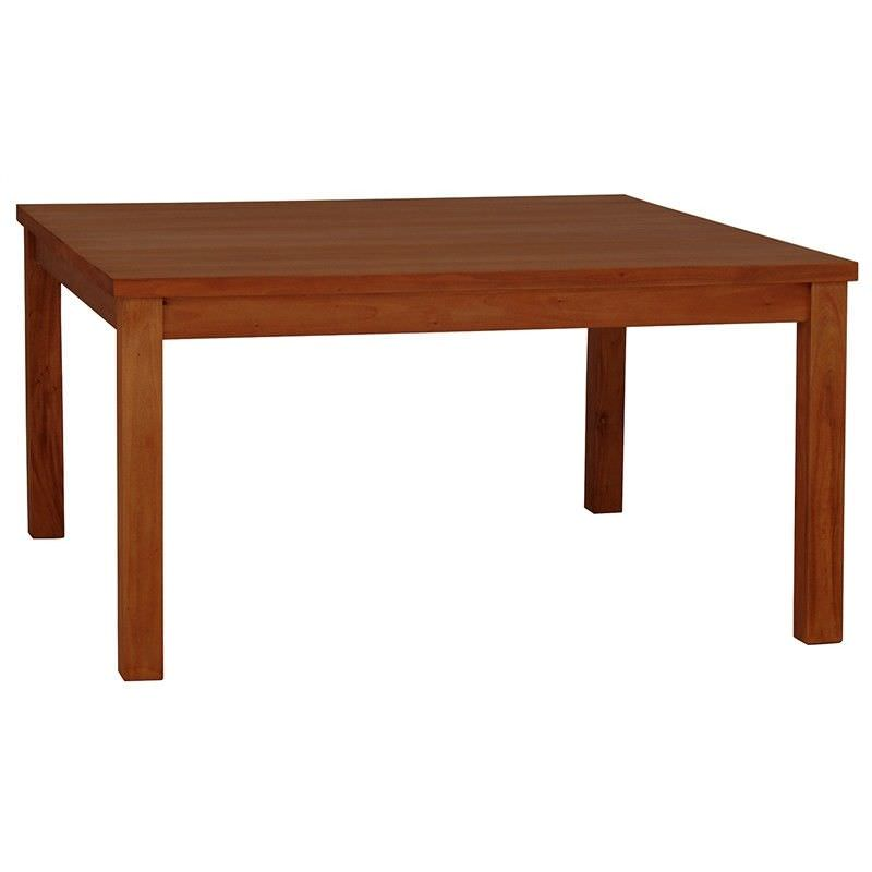 RPN Solid Mahogany Timber 150cm Sqaure Dining Table - Light Pecan