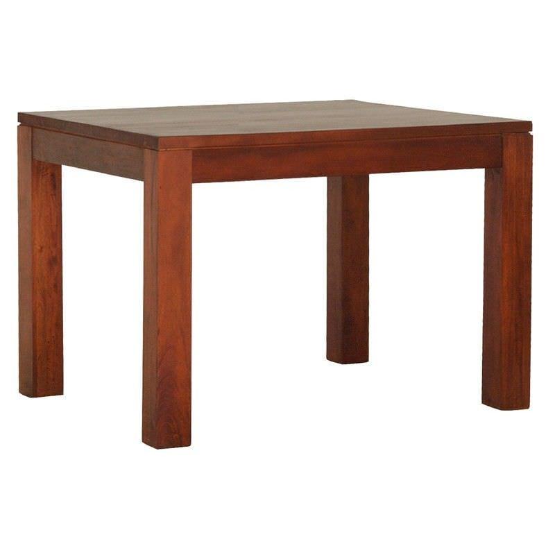 Amsterdam Solid Mahogany Timber 90cm Square Dining Table - Mahogany