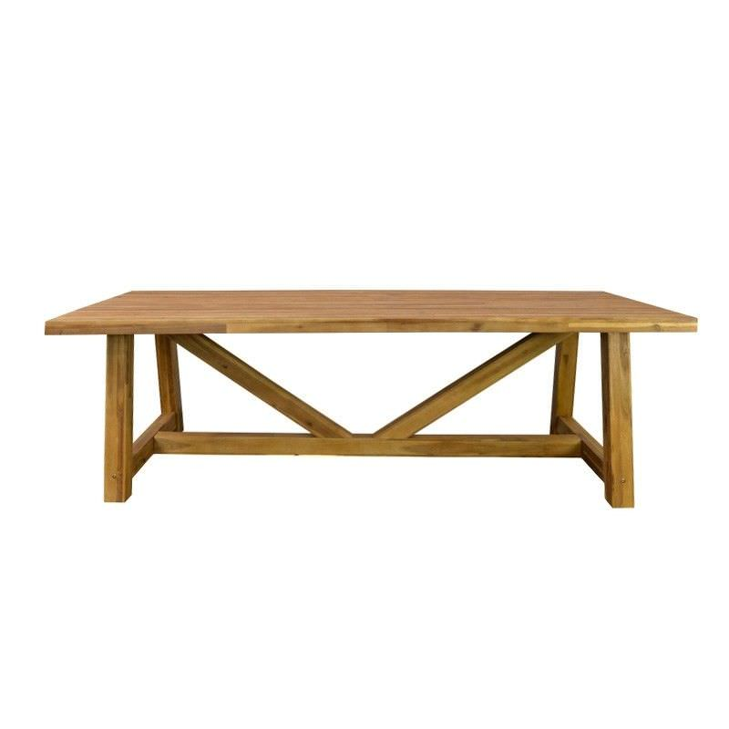 Dano Solid Acacia Timber 250cm Indoor/Outdoor Dining Table