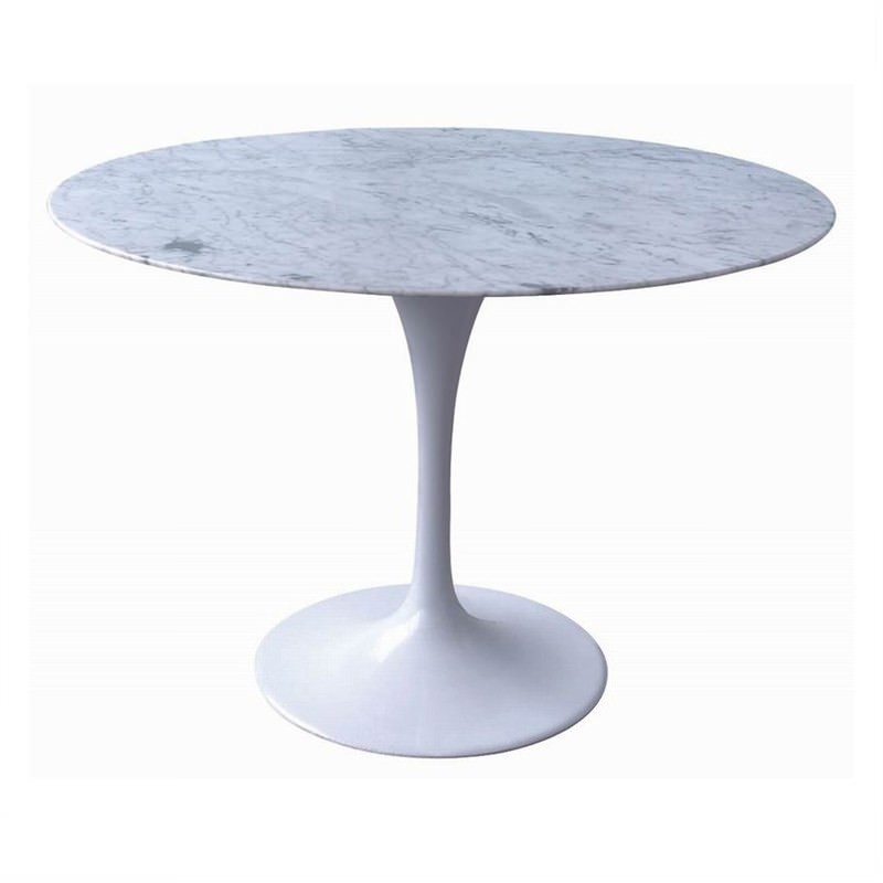 Replica Tulip Dining Table 90cm Marble Top