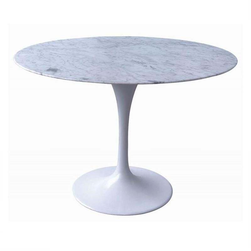 Replica Tulip Dining Table 90cm Marble Top