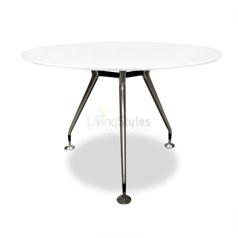 Replica Eames 120cm Round Dining Table - White