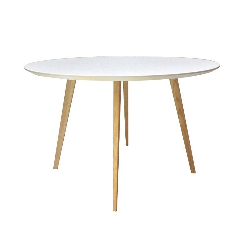 Replica Mario Cellini Halo 120cm Round Dining Table - Natural