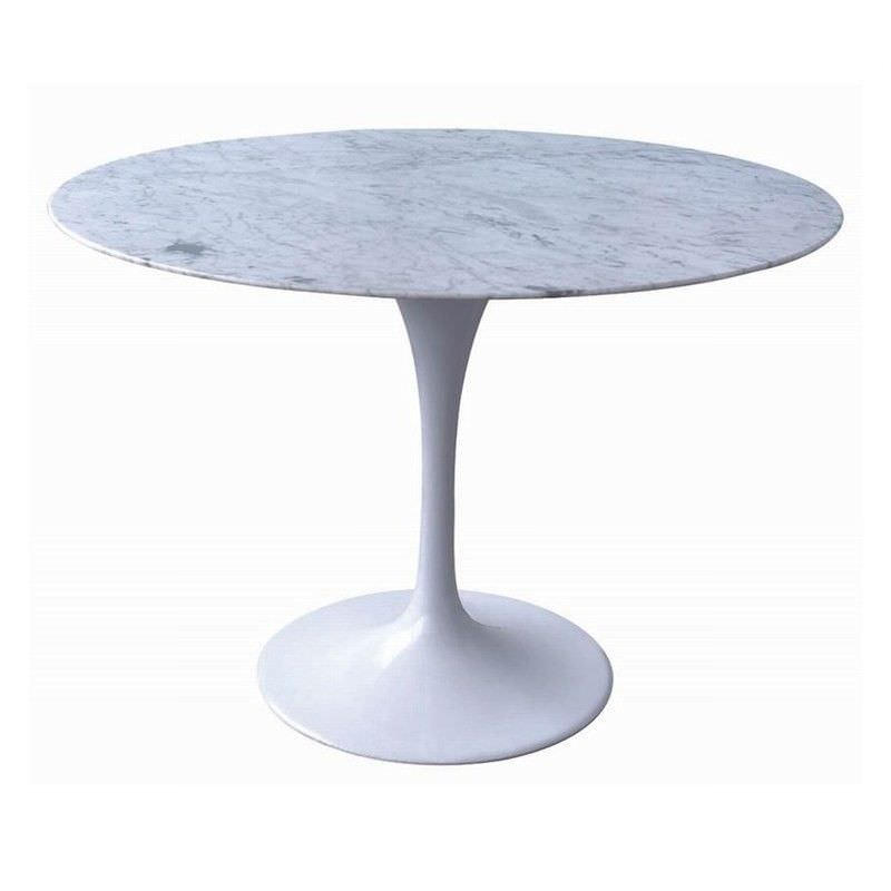 Replica Saarinen Tulip Marble Dining Table - 100cm White