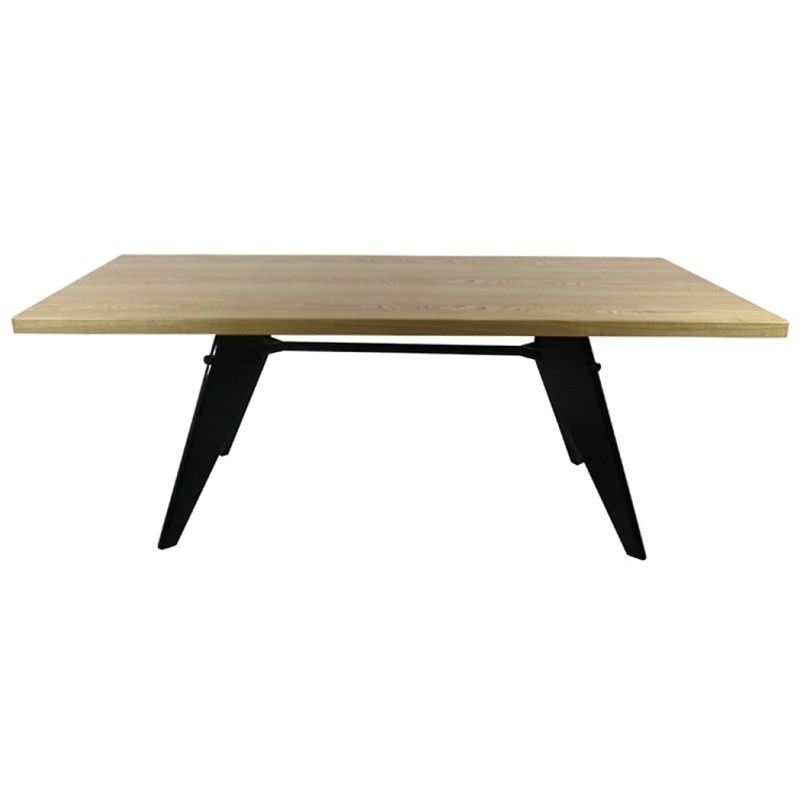 Replica Jean Prouve EM Solid Timber & Steel 190cm Dining Table
