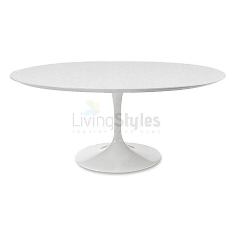 Replica Saarinen Tulip Oval Dining Table - White