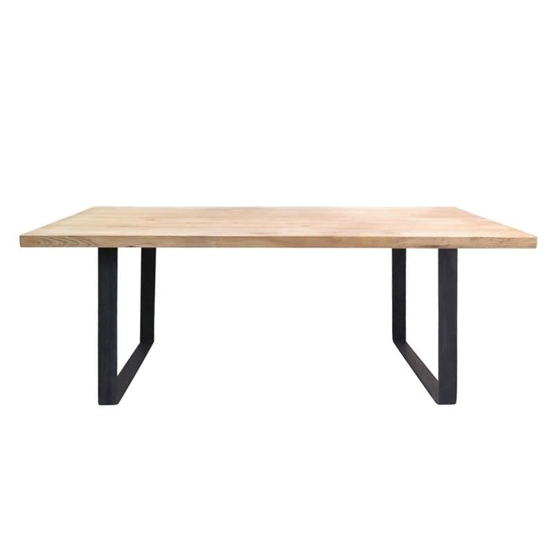 Darton Reclaimed Elm Timber & Steel 198cm Dining Table