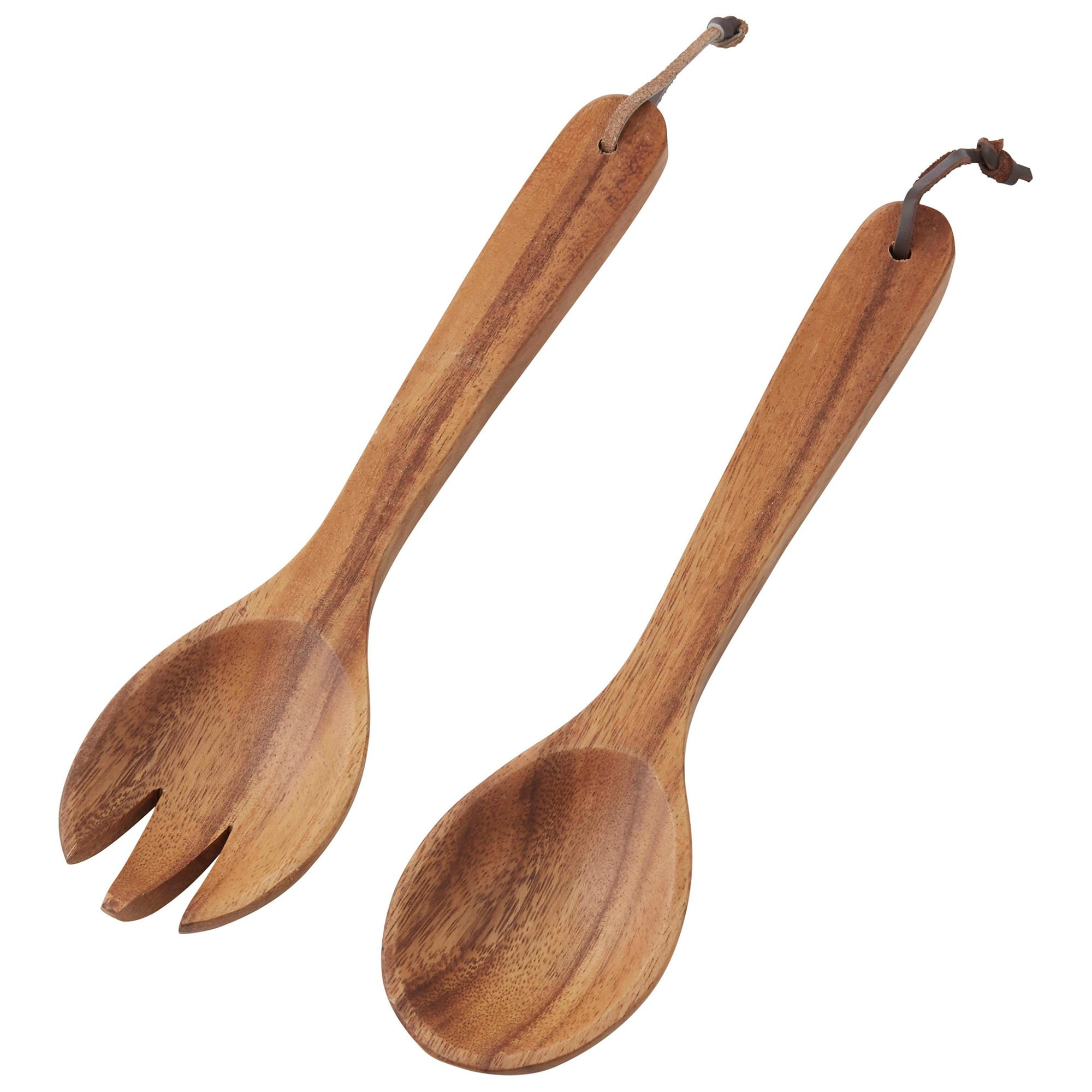 Davis & Waddell 2 Piece Acacia Timber Salad Server Set