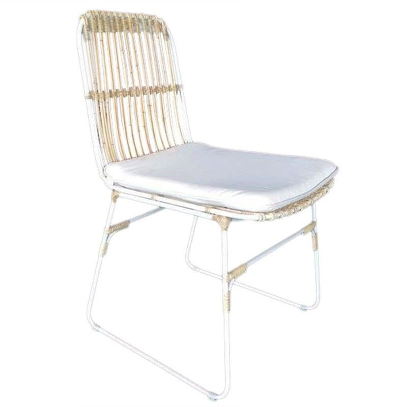 Dux Wicker and Metal Dining Chair