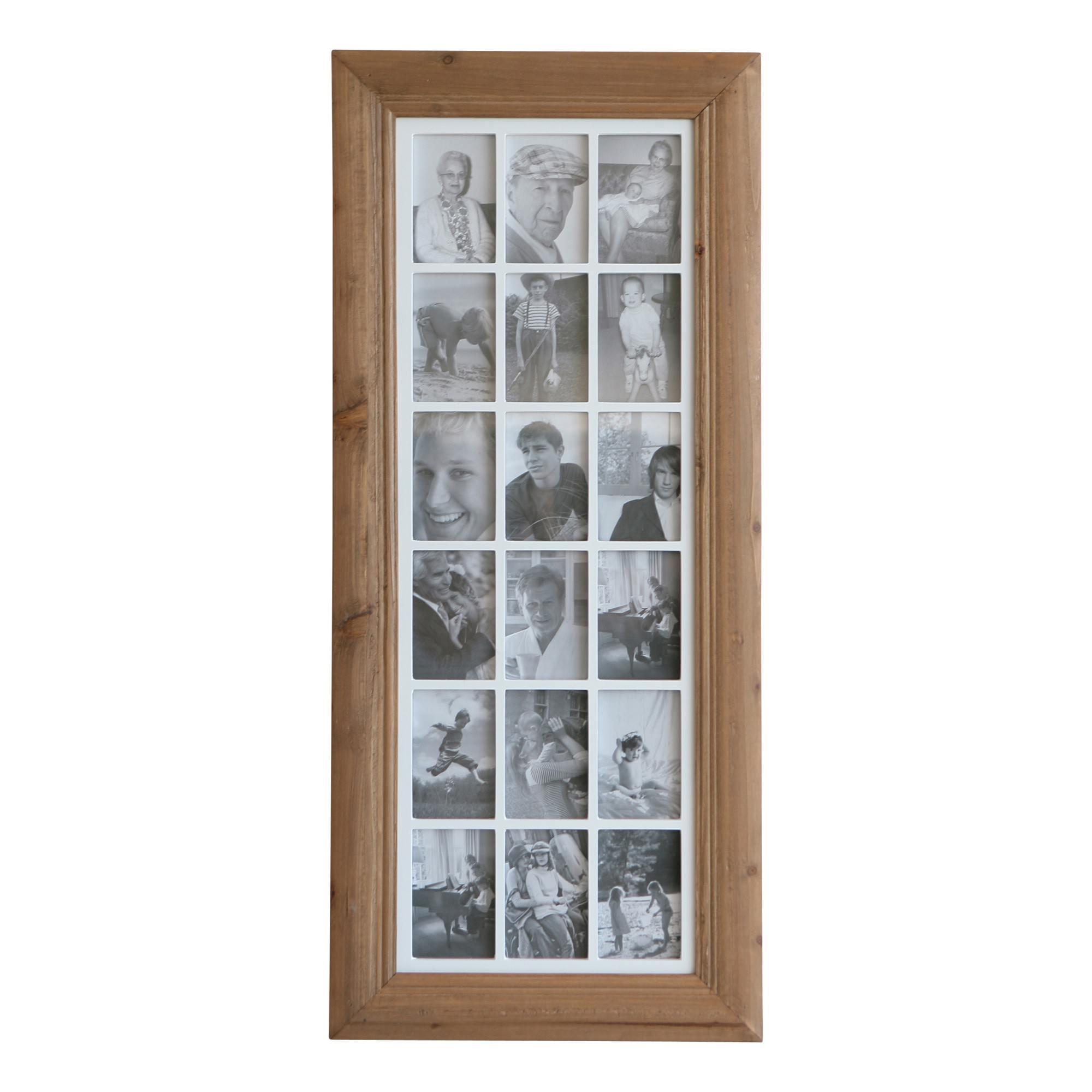 "Lester Photo Collage Frame, 18 Photos, 4x6"", Natural"