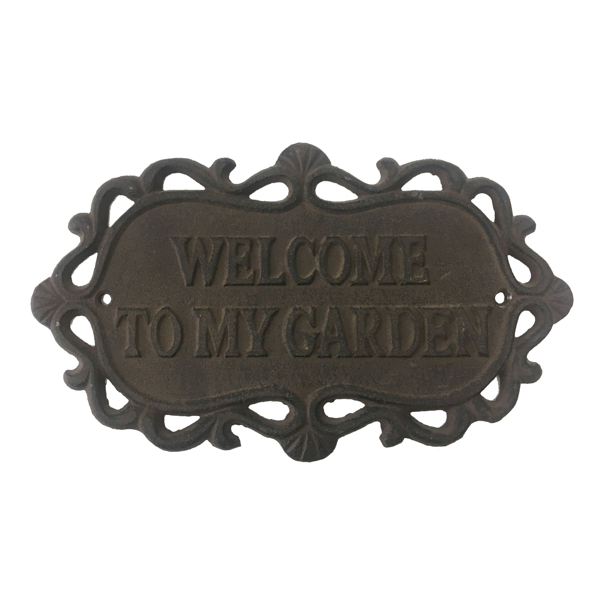 Welcome To My Garden Cast Iron Wall Plaque