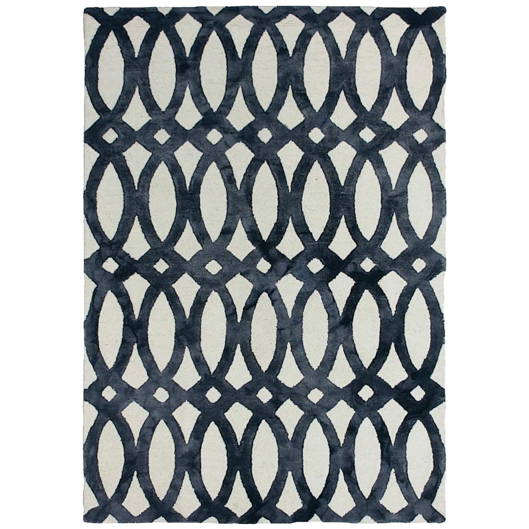 Dip Dye Hand Tufted Wool Rug, 200x300cm, Charcoal